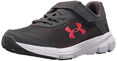 separation shoes e9a02 52c82 Under Armour Boys' Pre School Rave 2 Adjustable Closure Sneaker, Stealth  Gray (100