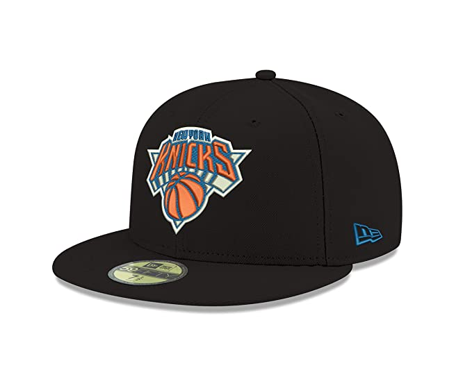 ff007b26a4dd11 NBA New York Knicks Men's Official 59FIFTY Fitted Cap, 7, Black