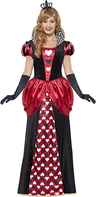 Size: XS Dress Red Crown and Gloves Smiffys 45490- Ladies Heart Queen Costume