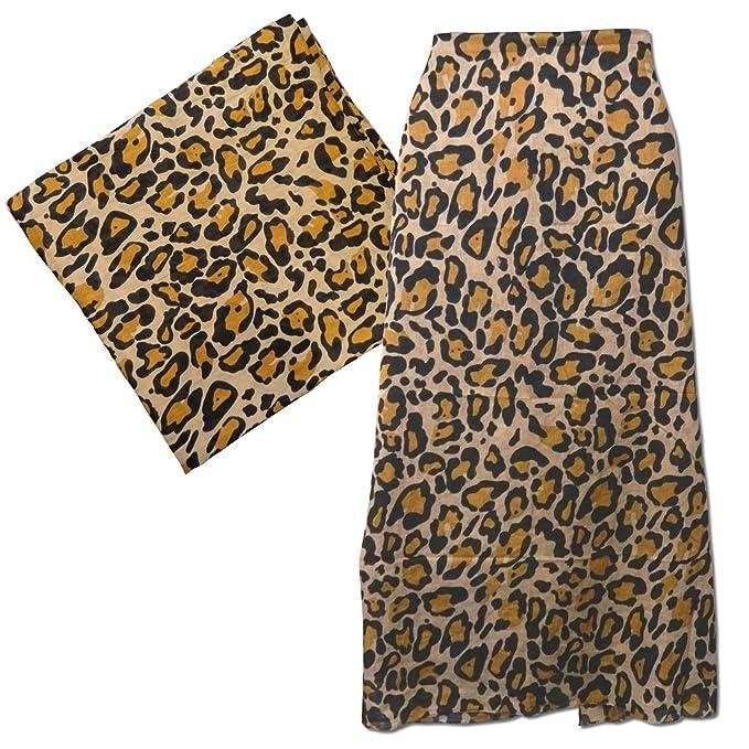 8b08b6e833f8 PAREO 100x180cm fantasia leopardata 100% cotone Moda Accessori  Abbigliamento donna mare