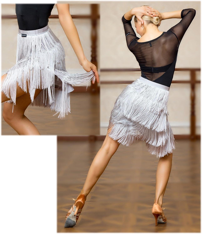 SCGGINTTANZ Superstar-Serie:G2048 Latin Latein Der Ball Tanz Gesellschaftstanz Professionell Vier Schichten Quaste Swing R/öcke