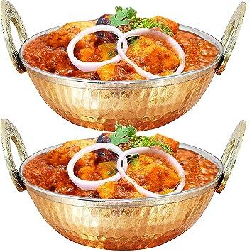 500 ml de estilo martillado cobre acero inoxidable utilizado como bol de helado, plato de sopa, cuenco de fideos, tazón de cereal, tazón de arroz, ...