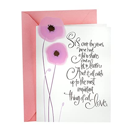 Amazon hallmark mahogany mothers day greeting card for sister hallmark mahogany mothers day greeting card for sister sister bond m4hsunfo