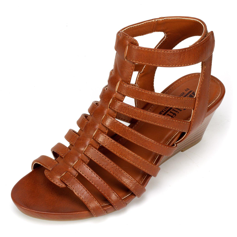 4c9d29bafc1 Amazon.com | CLIFFS BY WHITE MOUNTAIN Valda' Women's Wedge | Sandals