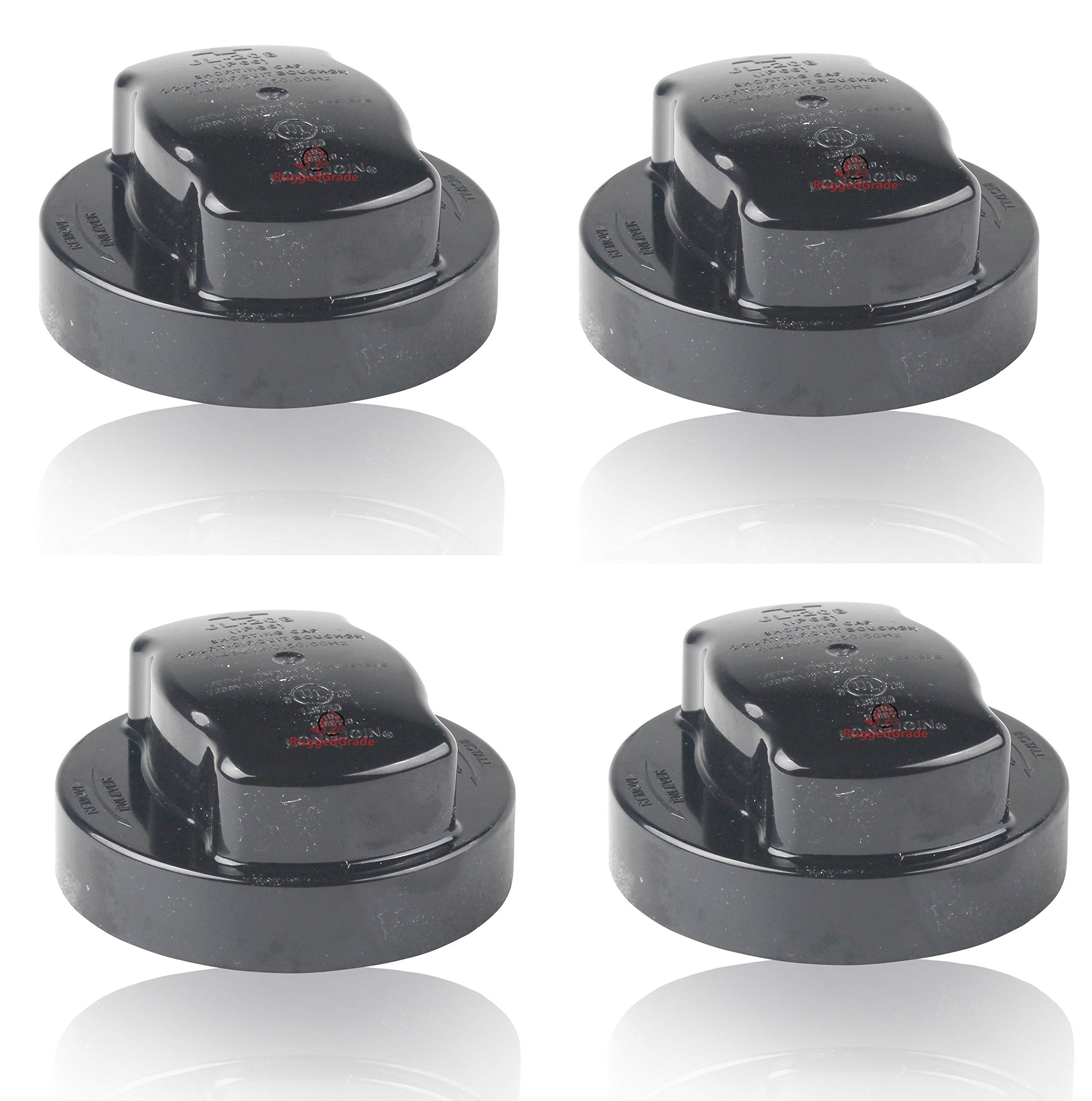 4 Pack - Photocell Bypass Cap/Shorting Cap -for 3 Prong Circular Dusk to Dawn Sensors - Quantity 4 of 79-112 Bypass Cap for 3 Prong Lights