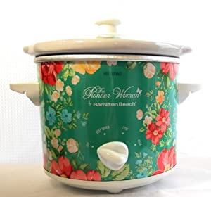 The Pioneer Woman 1.5 Quart Vintage Floral Slow Cooker Crock Pot Cooking Pot, model #33016 by Hamilton Beach