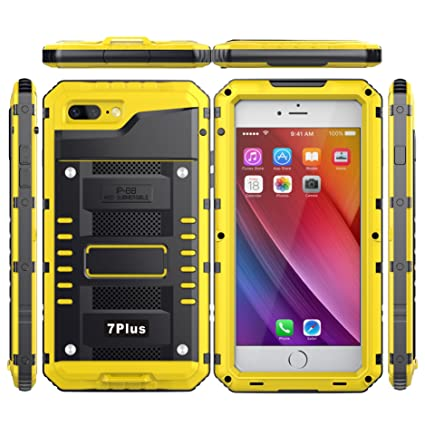 designer fashion 84a8b df482 iPhone 8 Plus & 7 Plus Waterproof Case, iZi Way 360 Sealed Full Body  Protective Shell with Built-in Screen Protector Heavy Duty Hybrid Case  Cover for ...