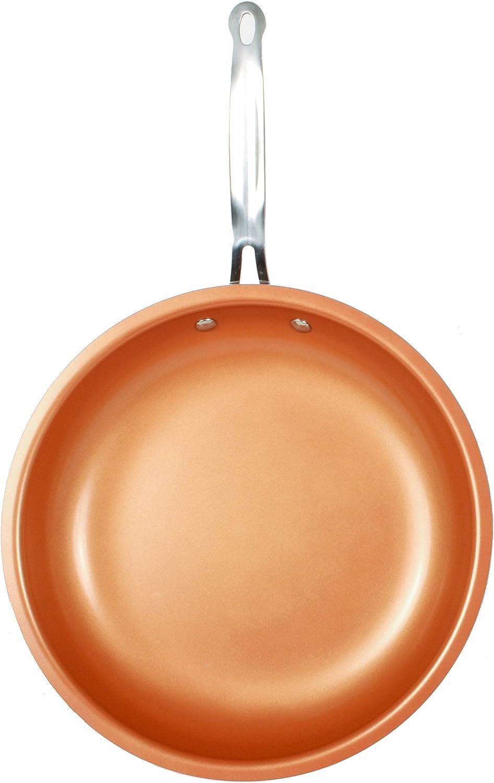 NEW Mainstays 9.5 Inch Copper Nonstick Skillet Dishwasher /& Oven Safe