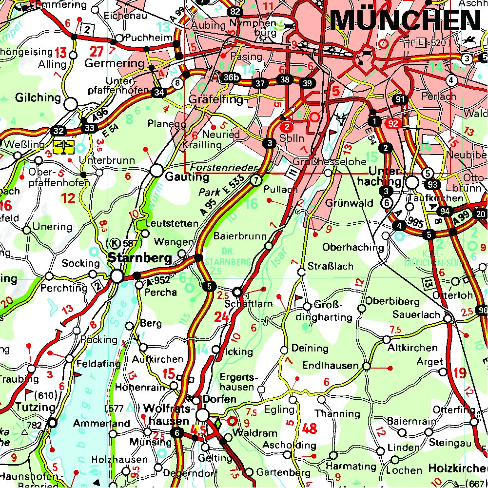 germany southeast bavaria michelin regional map 546 michelin regional maps amazoncouk michelin 9782067183698 books