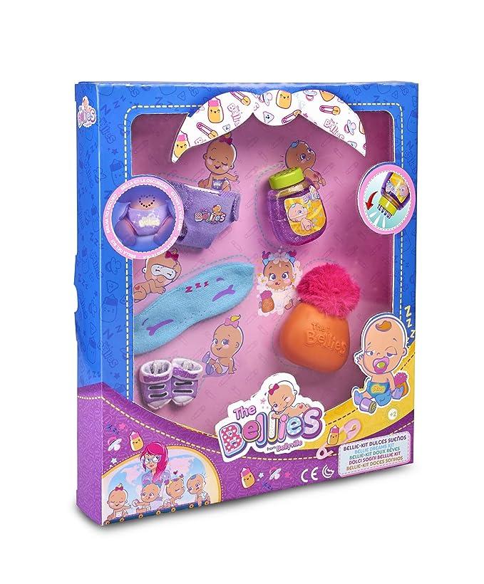 The Bellies - Kit Dulces Sueños, accesorios para dormir, recomendado para niños y niñas a Partir de 3 años (Famosa 700015141)