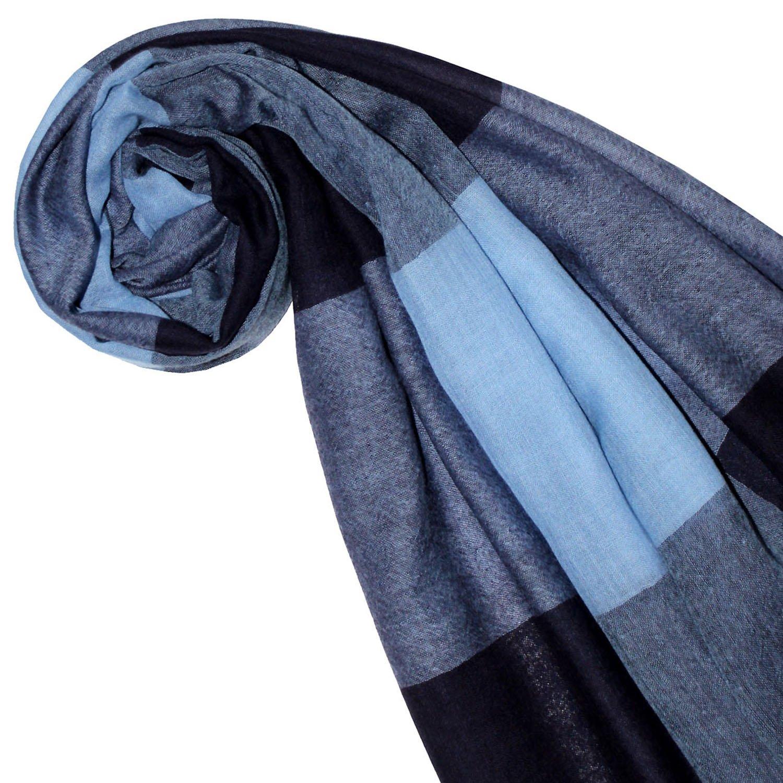 Lorenzo Cana Luxus Damen Pashmina Schal Schaltuch 50/% Kaschmir 50/% Wolle Stola Tuch Umschlagtuch Uni Damenschal Damentuch Damen mehrfarbig Blau T/öne 78468