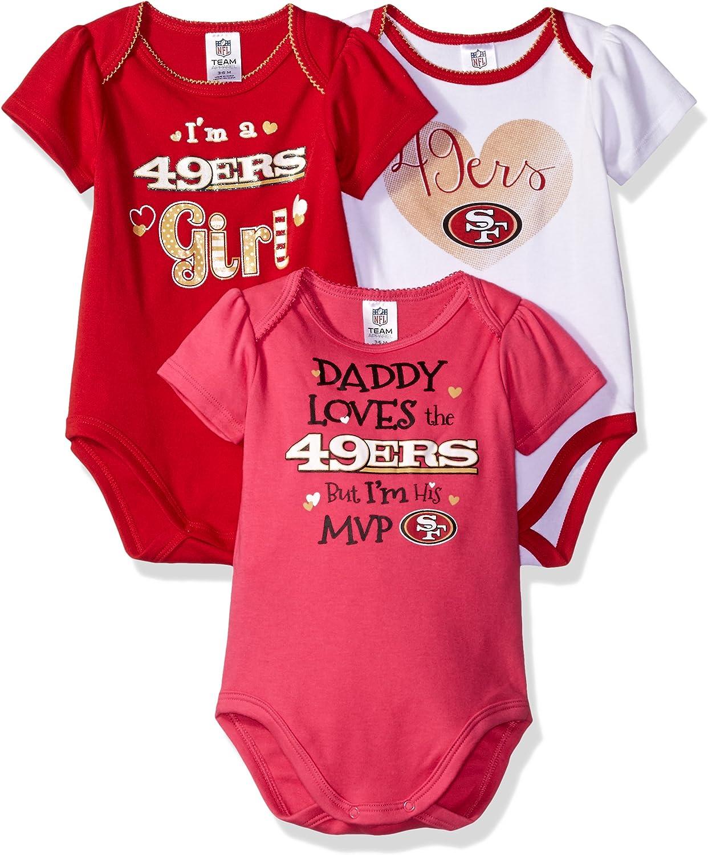 NFL Children Girls Daddy Loves 3 Pack Bodysuit