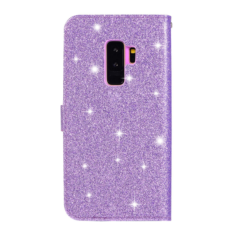 Rosegold HUDDU Galaxy S9 Diamant Handyh/ülle Compatible for Samsung Galaxy S9 Plus Herz Glitzer H/ülle Flip Case Ultrad/ünn Tasche Kartenfach Stand Brieftasche Etui Klapph/ülle M/ädchen Schutzh/ülle