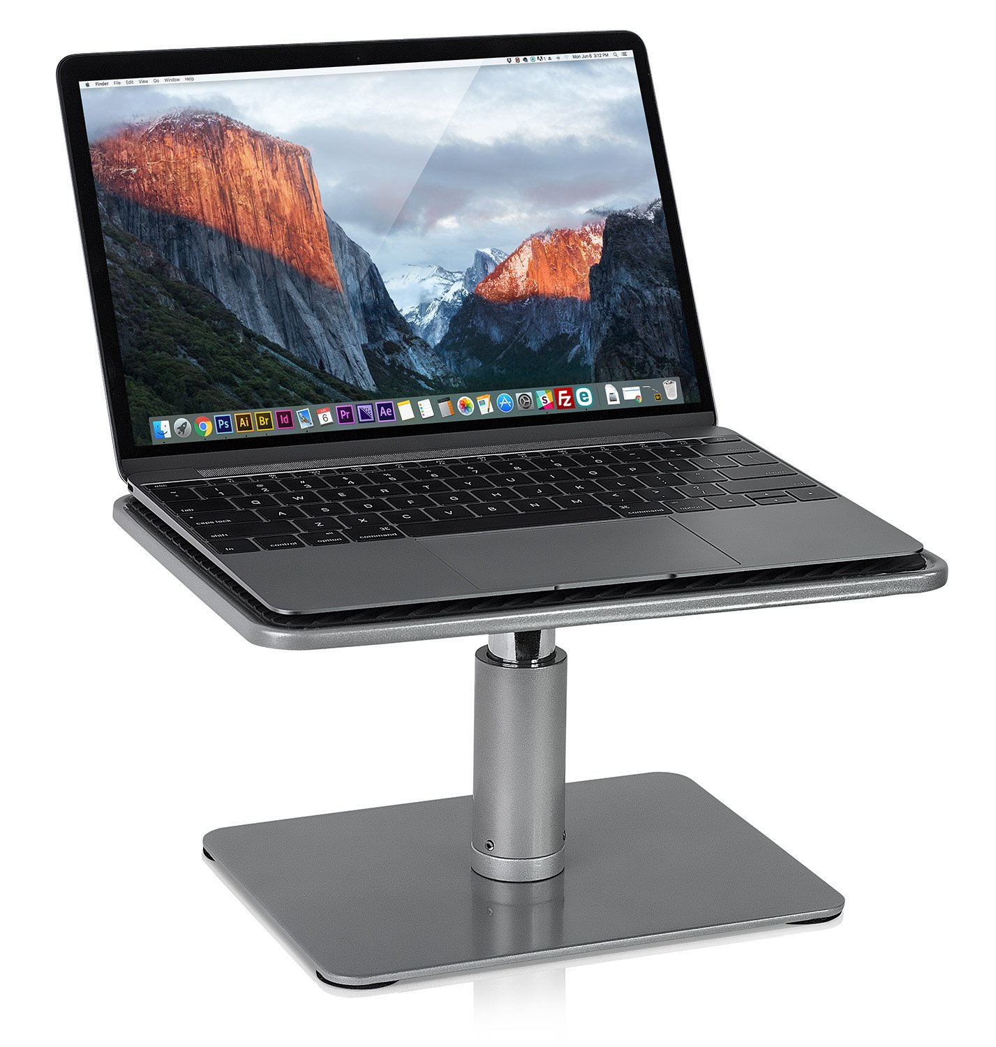 Mount-It! Laptop Stand for MacBook and PC, Monitor Desk Riser, Fits Up to 11 to 15 Inch Computers