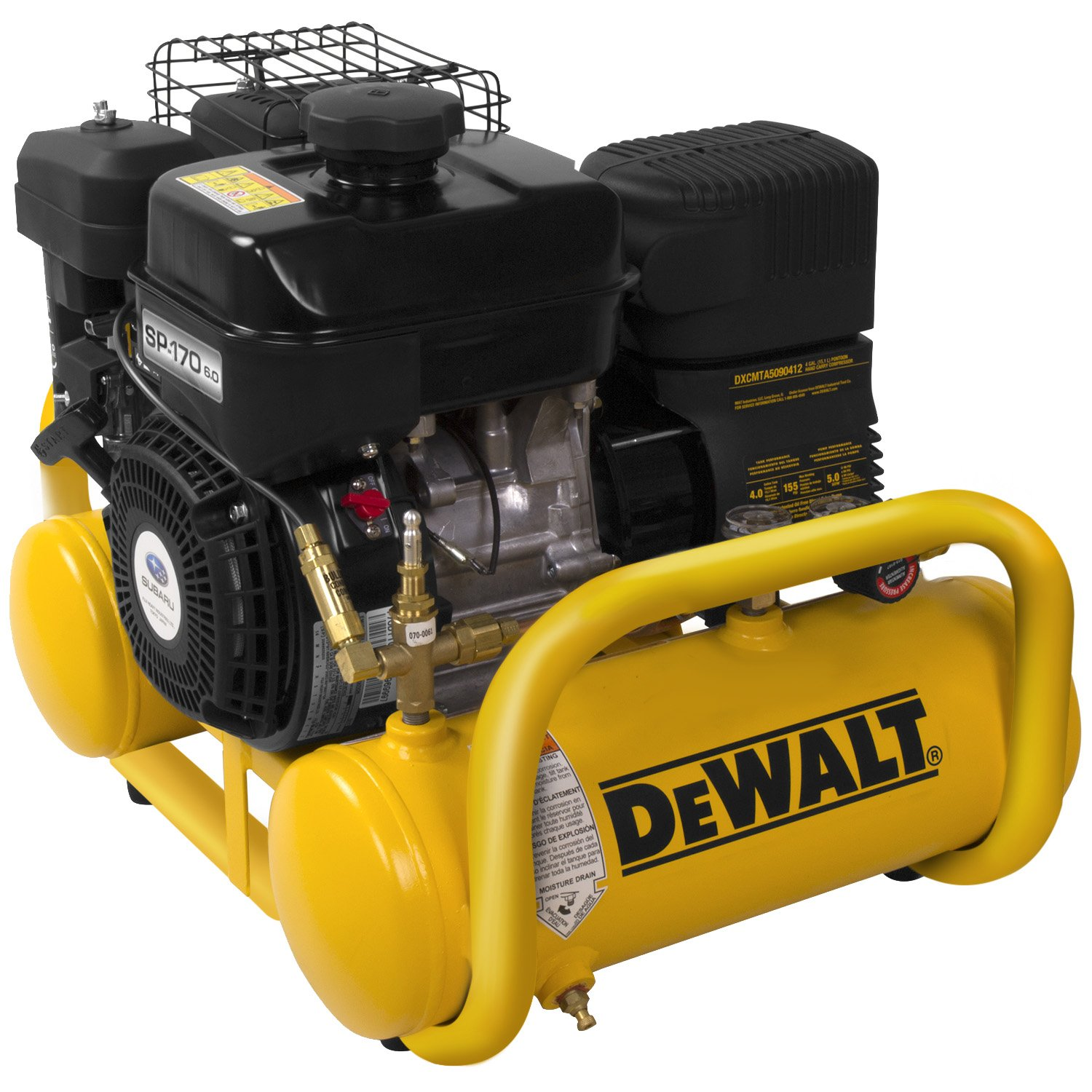 1.  <strong>DEWALT DXCMTA5090412 Gas Powered Air Compressor</strong>