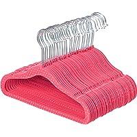 30-Pack AmazonBasics Kids Velvet Hangers (Pink Polka Dot)