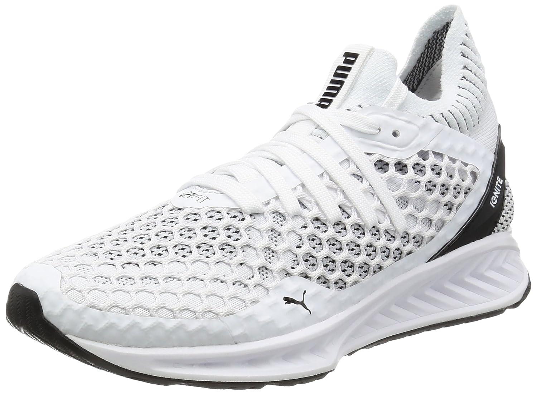 Puma Women's Ignite Netfit Wn S White and Black Running Shoes-5 UK/India