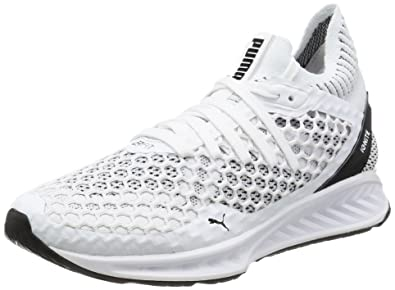 db796ed9b Puma Women's Ignite Netfit Wn S White and Black Running Shoes-4 UK/India