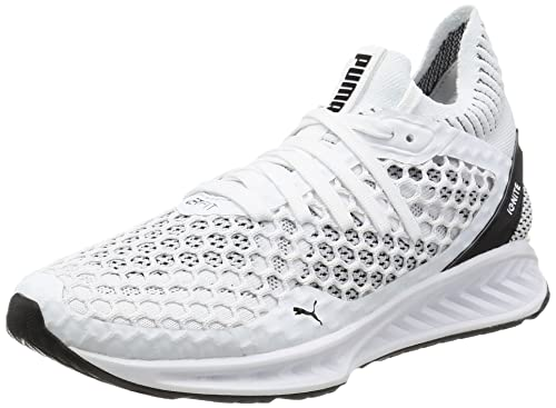 best service 9731c e1b0d Puma Women s Ignite Netfit Wn S White and Black Running Shoes-5.5 UK India