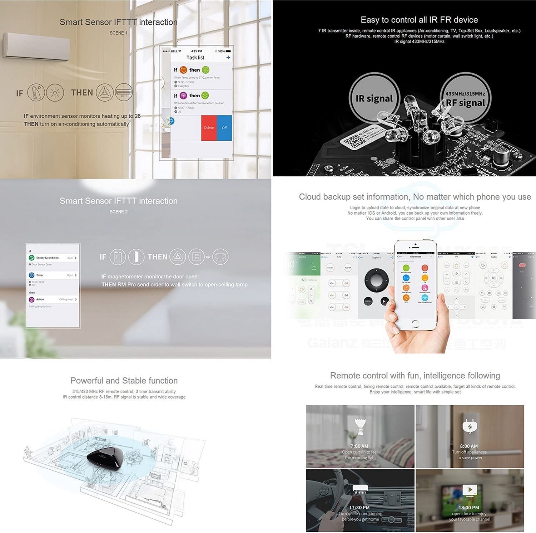 Broadlink RM Pro Smart Home automatización aprendizaje mando a ...