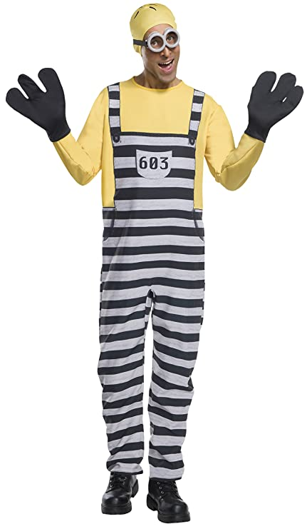 Despicable Me 3 Jail Minion Tom Adult Costume Standard ...