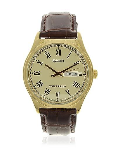 fa35e4b87b8 Relógio Masculino Analógico Casio MTP-V006GL-9BUDF - Marrom  Amazon ...