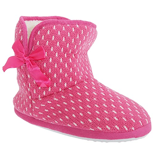 Zapatillas/Botines para Estar por casa de Punto con Interior Polar para Mujer (36
