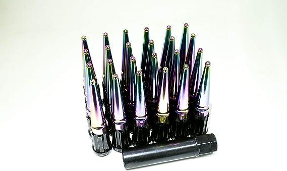 24 pcs Set Green 2B Shopping Duplex Spline Spike L112 M14x1.50