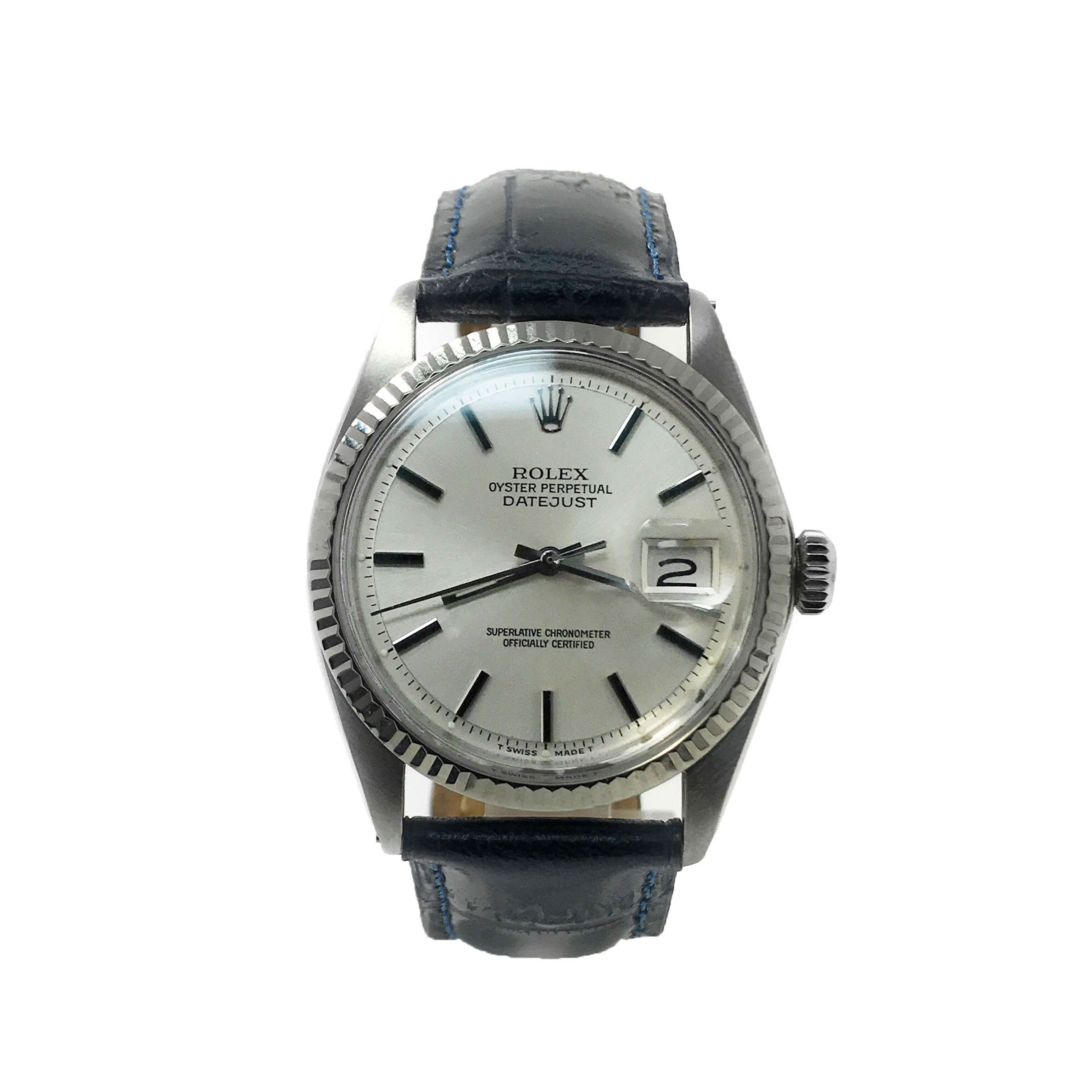 Rolex Datejust swiss-automatic mens Watch 1601 (Certified Pre-owned)