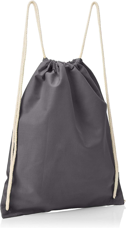 Texlab Unisex/_Adult VEND-148735 Drawstring Bags 38 cm x 42 cm Grey