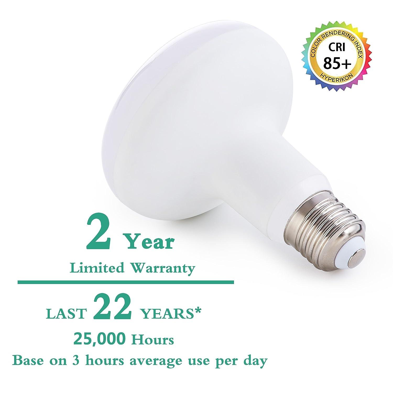 BR30 LED Light Bulb,12W R30 Wide Flood Light Bulb 120W Equivalent UL /& ENERGYSTAR 4000K Natural White Dining Room Living Room Great for Bedroom Lighting Not Dimmable E26 Medium Base 6 Pack