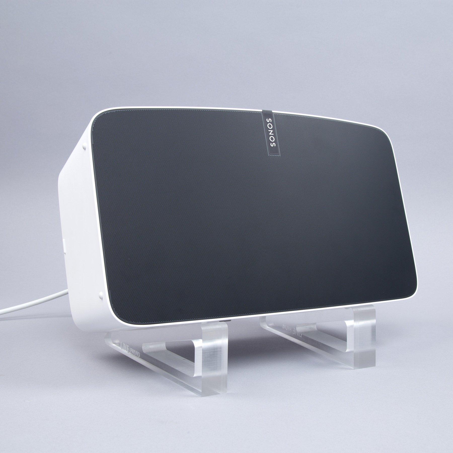 Line Phono: Acrylic Speaker Angler Stands - Single for (1) Speaker