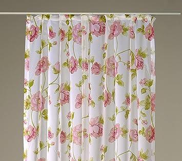 Dekoschal Kräuselband Vorhang Blumenmuster Francine Gardine