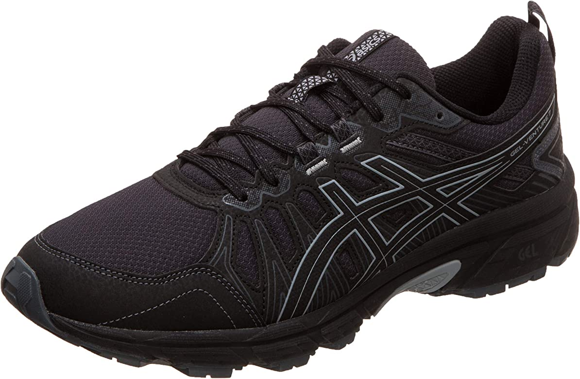Asics Gel-Venture 7, Zapatillas de Running para Hombre, Negro (Black/Sheet Rock 001), 44 EU: Amazon.es: Zapatos y complementos