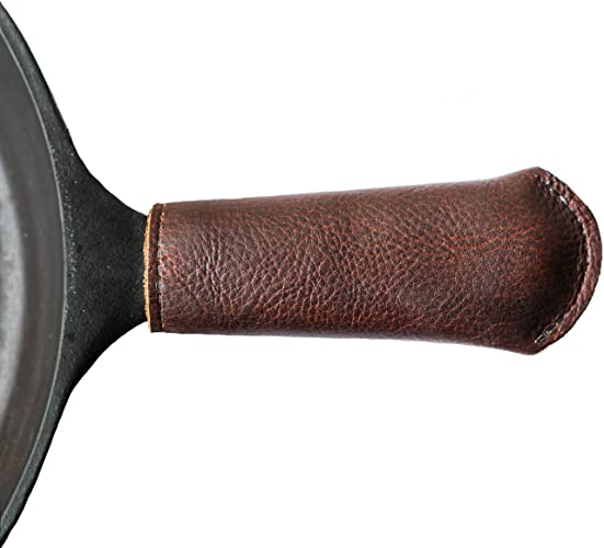 Amazoncom Leather Cast Iron Skillet Pan Handle Cover Made In Usa