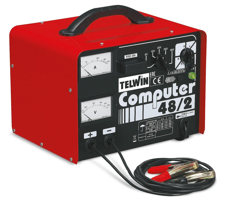 Rot und Schwarz /Akku-Ladeger/ät Telwin Computer 48//2/Prof/ 1000/W, 230/V
