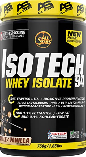 All Stars Isotech Whey-Isolat, Vanille, 1er Pack (1 x 750 g)  Amazon ... 9fdacf575e