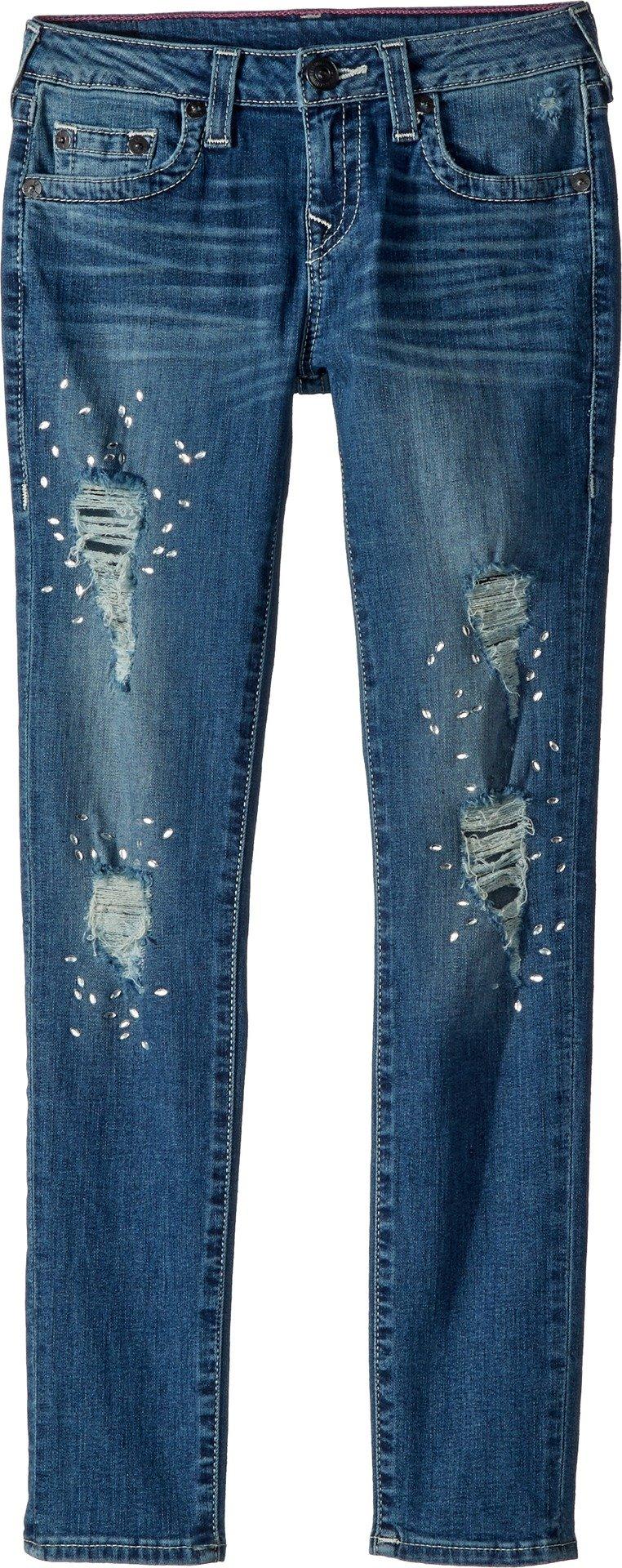 True Religion Kids Girl's Casey Skinny Jeans in Diamond Blue (Big Kids) Diamond Blue 12