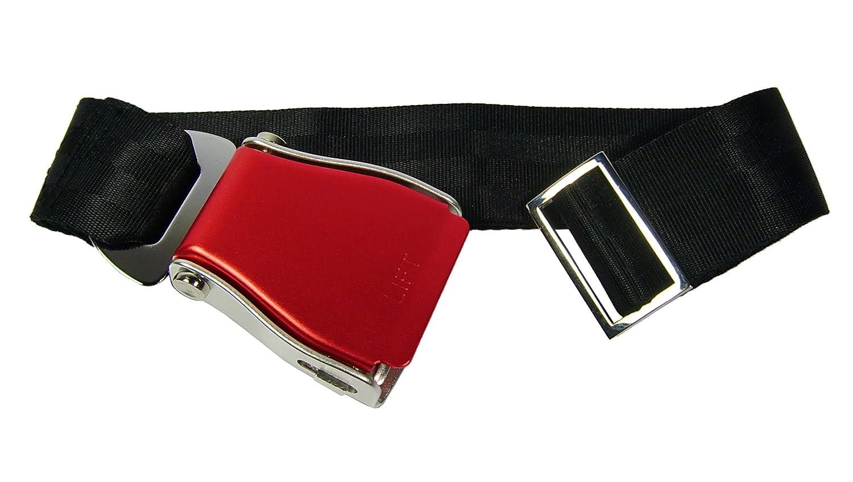 Skybelt Avión Cinturón en rojo/negro Airline Belt