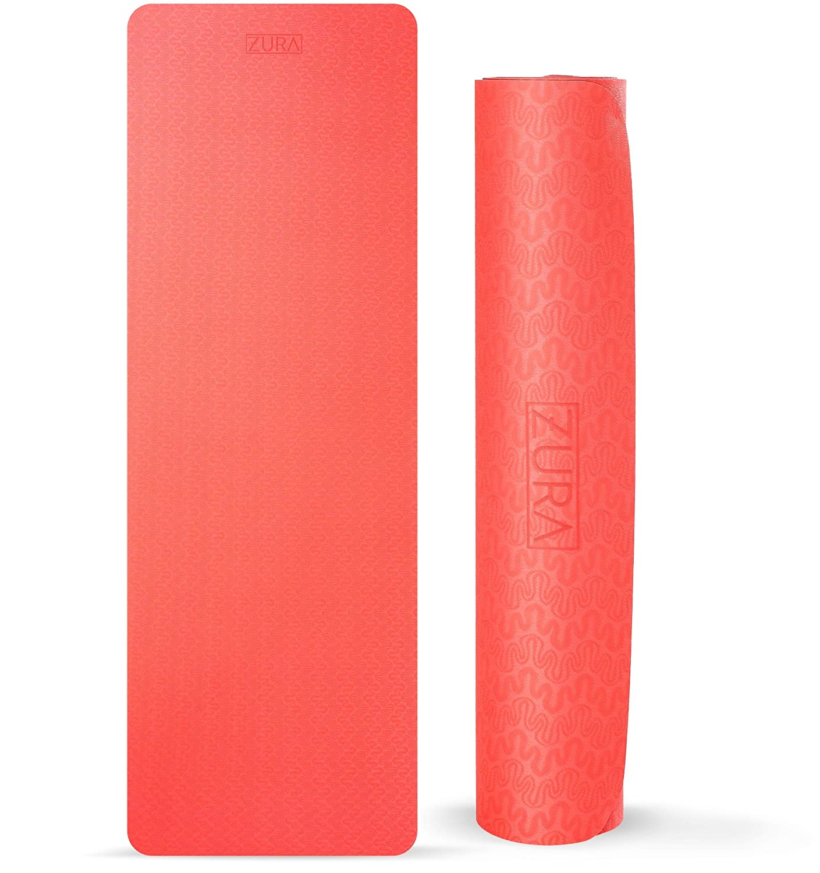 zurayoga viaje antideslizante Yoga Mat, mejor Reversible 2 ...