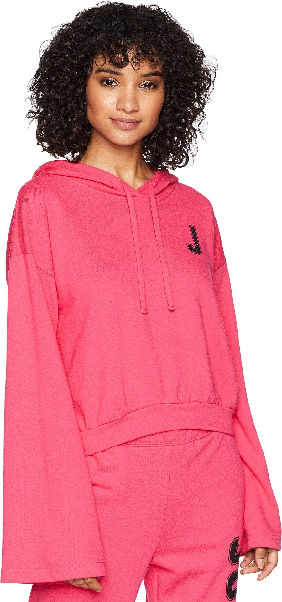 Juicy Couture Women's J Pullover Hoodie Raspberry Sorbet Large
