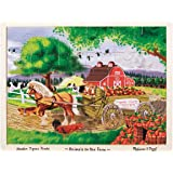 Melissa & Doug Animals on the Farm Wooden Jigsaw Puzzle With Storage Tray (24 pcs)