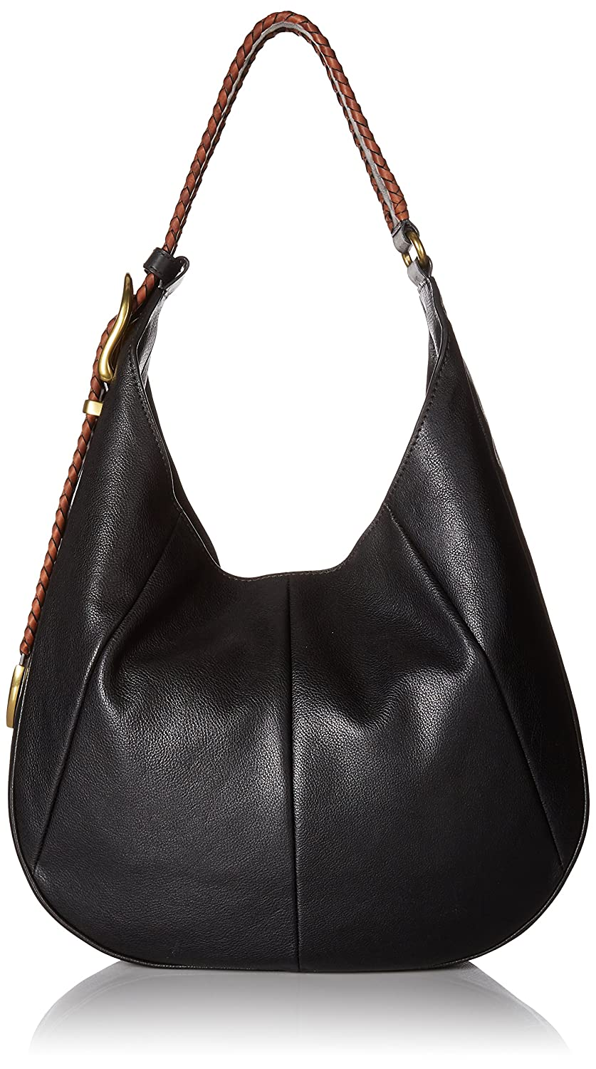 FRYE Jacqui Whipstitch Hobo Shoulder Bag Black DB079