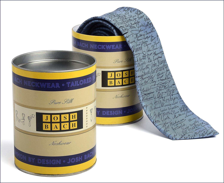 Josh Bach Mens Paper Airplanes Silk Necktie Blue Made in USA