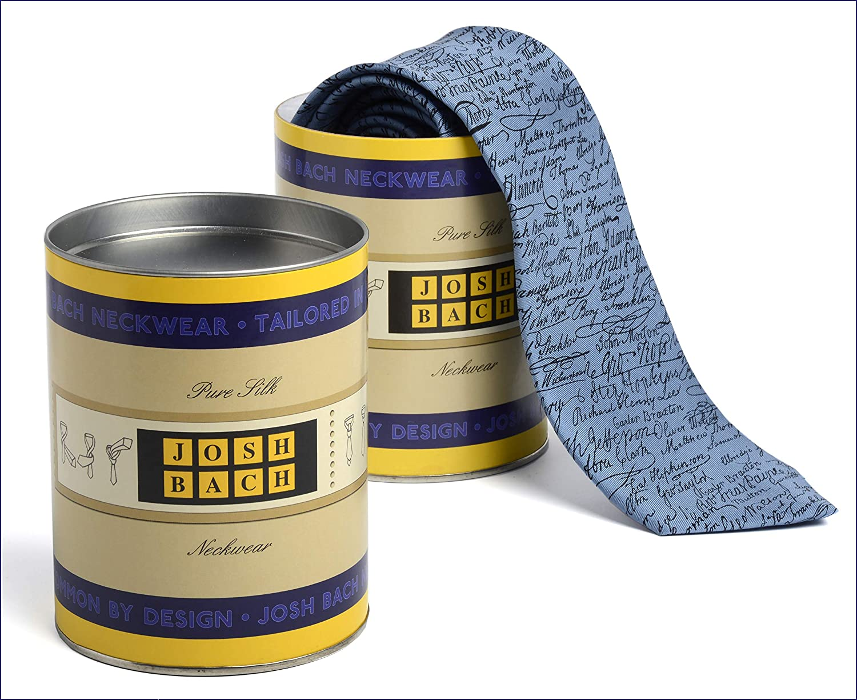 Made in USA Josh Bach Mens 45 Adapter Music Silk Necktie Blue