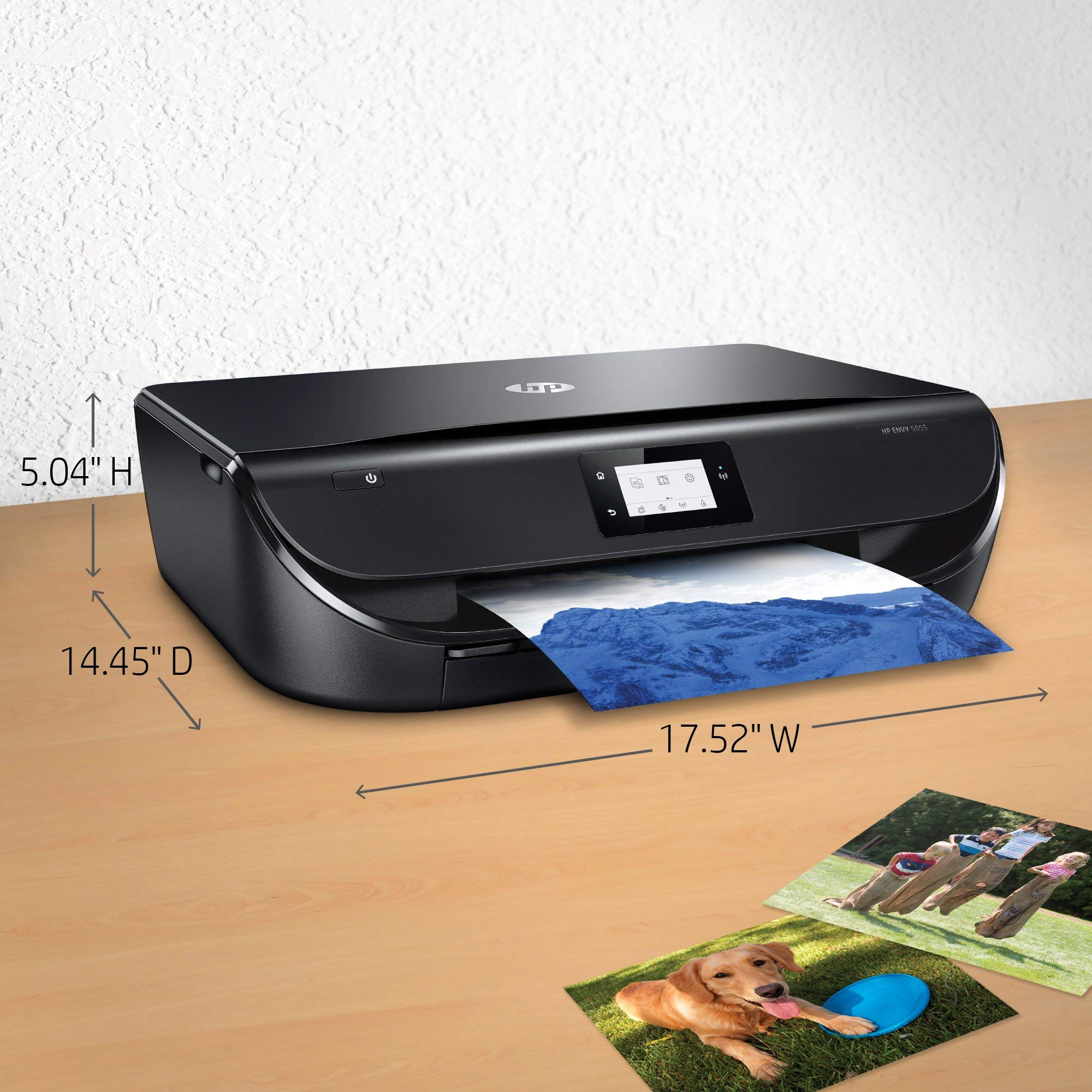 HP Envy 5055 Wireless All-in-One Photo Printer, HP Instant Ink & Amazon Dash Replenishment Ready (M2U85A) (Renewed) by HP (Image #3)