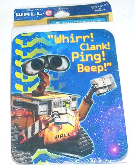amazon com wall e party invitations 8 count classic vintage walle