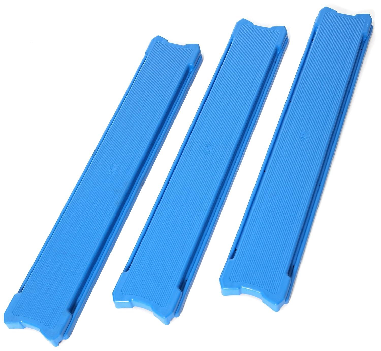 23 Length American Educational 3 Piece Blue Plastic Build N Balance Plank Set