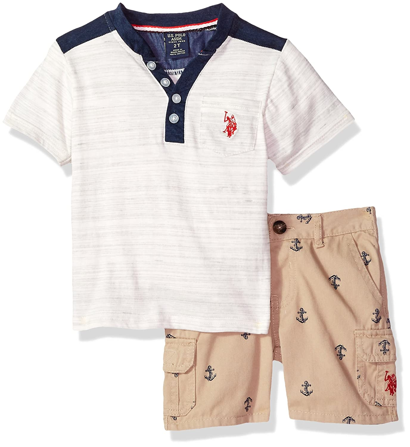 Boys T-Shirt and Short Set Polo Assn U.S