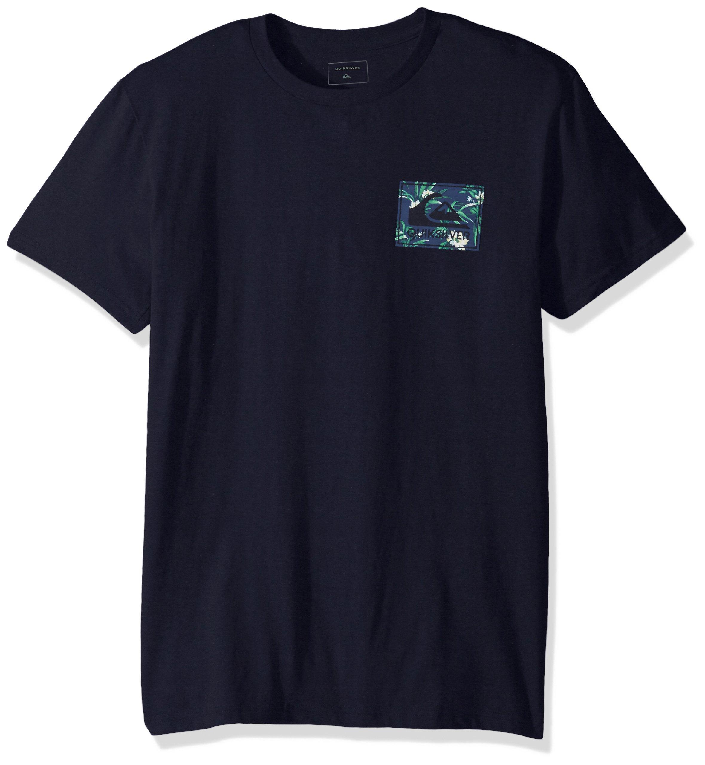 Quiksilver Men's Floral Feels T-Shirt, Navy Blazer, M